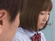 Superb Mogami Kasumi blows cock like a goddess