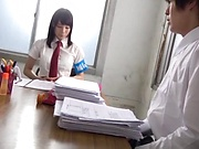 Charming schoolgirl Suzumura Airi delights stud with blowie