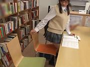 Hot Japanese schoolgirl enjoys public sex