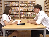 Mogami Kasumi in heats enjoys a big dildo in her cherry picture 11