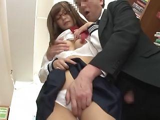 Kinky schoolgirl enjoys being fucked
