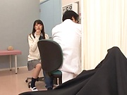 Nice Japanese teen gets her pussy poked hard POV