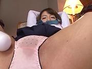 Shirasaki Yuzu ,pleasured by a vibrator