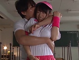 Asami Nagase chokes on a massive pole picture 13