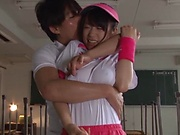 Asami Nagase chokes on a massive pole