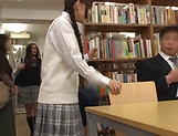 Kinky divas enjoy getting banged in a public library picture 2