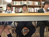 Kinky divas enjoy getting banged in a public library picture 3