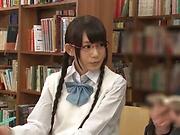 Kinky divas enjoy getting banged in a public library