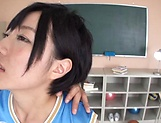 Sweet schoolgirl Aihara Tsubasa screwed in the classroom picture 13