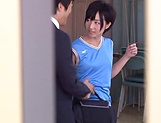 Sweet schoolgirl Aihara Tsubasa screwed in the classroom picture 5