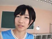 Sweet schoolgirl Aihara Tsubasa screwed in the classroom