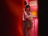 Naughty Umi Hirose in school uniform gets cream pie picture 6