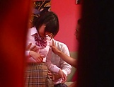 Naughty Umi Hirose in school uniform gets cream pie picture 9