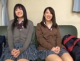 Two Japanese darlings are into this raunchy foursome picture 12