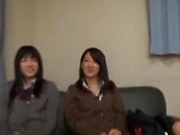 Two Japanese darlings are into this raunchy foursome