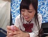 Cute schoolgirl beauty loves pleasing a stiff cock