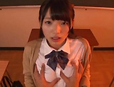 Voluptous schoolgirl Wasa Yatabe gets a good bonk picture 12