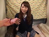 Japanese teen beauty loves sucking hard cock picture 11