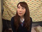 Japanese teen beauty loves sucking hard cock