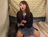 Japanese teen beauty loves sucking hard cock picture 8