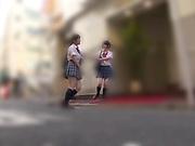 Suzumi Misa and Inamura Hikari passionately kiss each other