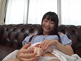 Amatuer Asian hottie Eri Natsume in raunchy indoors scene picture 13