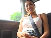 Shien Fujimoto enjoying an arousal car sex