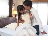 Horny Eri Natsume gets her wet cunt filled with cum