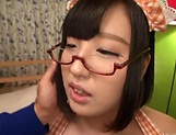 Sweet teen in glasses Hana Yurino gets nailed picture 2