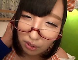 Sweet teen in glasses Hana Yurino gets nailed picture 3