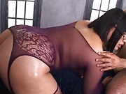 Pretty Asian chick Hana Yurino enjoys steamy threesome