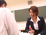 Hot luscious Nozomi Aso rides cock and she loves cream picture 14
