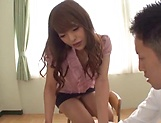 Sexy Asian teacher enjoys creampie delights picture 3
