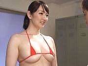Nasty stud scoring lusty points with teacher Nikaidou Yuri