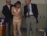 Lustful Japanese teacher Miyabe Suzuka toys herself picture 14