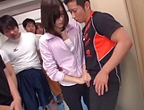 Hardcore teacher Mizuho Uehara gets bukkake delights picture 15