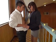 Ravishing beauty Mizuho Uehara gives a kinky head