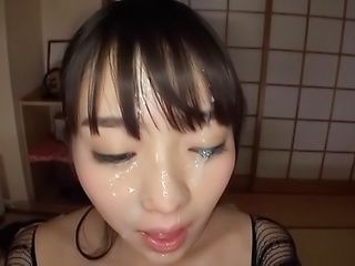Hot Asian babe Ayane Suzukawa shows her wet hairy cunt