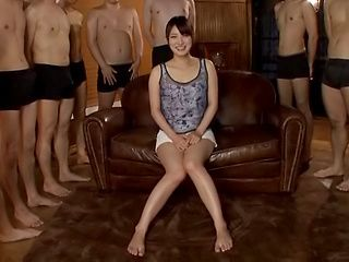 Hakii Haruka ,gets multiple cumshots on her face