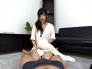 Hot Japanese temptress loves the taste of cock