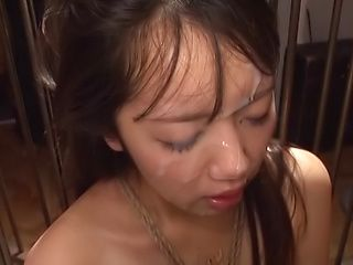 Creamy facial cum shot involving hot Misaki Kanna