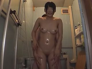 Azuki has her shaved pussy pleasured well