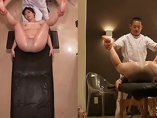 Massage turns really nasty for sleazy Chie Nakamura