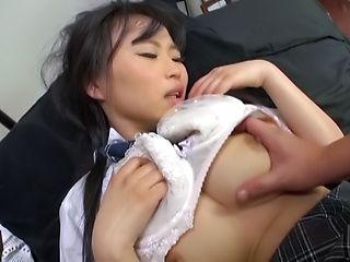 Cute Akane Yoshinaga has her beaver stretched