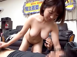 Wakaba Onoue enjoys sucking a massive cock