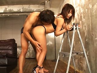 Ayami  Shunka ,enjoys a smooth rear fuck