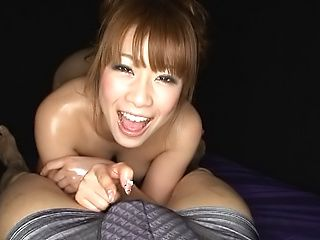Raunchy POV blowjob scene involving hot Asian honey