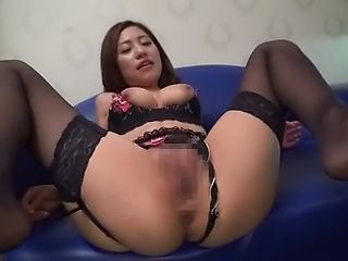 Arousing Japanese milf with big tits is toyed