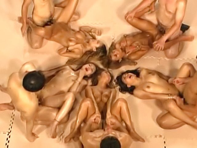 Japanese barbies banged in lustful group adventure