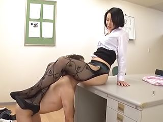 Hot Eri Itou penetrated by cock in her own office